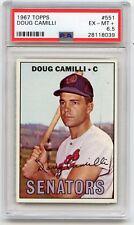 1967 TOPPS BASEBALL #551 DOUG CAMILLI, WASHINGTON SENATORS - PSA 6.5 (18039)