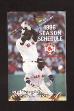 Mo Vaughn--1996 Boston Red Sox Pocket Schedule--Coke