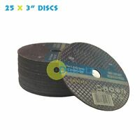 "25 x Air Cut Off Cutting Discs 75mm 3"" Metal Die Grinder Exhaust Ultra Thin 1mm"