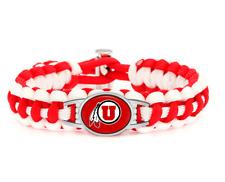 New Utah Utes Paracord Adjustable Bracelet, Gift for Her Mom Him Dad