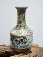 Fine Chinese Famille Rose Faience  Porcelain Vase