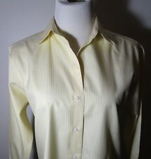 """Women's TALBOTS Yellow """"Wrinkle Resistant"""" Button Shirt Size 4 NWOT"""