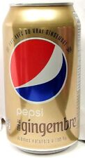 FULL NEW 355ml 12oz Canadian Pepsi Pepsi-Cola Ginger Canada 2016 French English