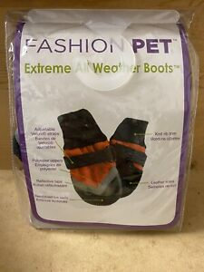 """Fashion Pet Extreme All Weather Waterproof Dog Boots XXX-Small (1.5"""" Paw)"""