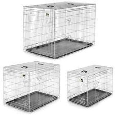 Hundekäfig Transportbox Hundebox Tierkäfig Welpenkäfig Faltbar Metall in L-XXL