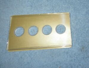 Vintage Honeywell Tap-Lite Push Button 4 Hole Wall Plate Cover