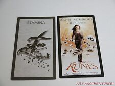 Mortal Instruments City of Bones World in Runes Rune Card Single Stamina NEW