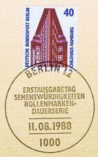 Berlin 1988: Chilehaus Hamburg Nr. 816 mit sauberem Ersttags-Sonderstempel! 1A