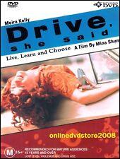 DRIVE, SHE SAID (Moira KELLY) Bank Robbery Hostage Drama Film DVD (NEW SEALED)