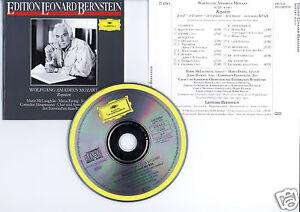"""MOZART """"Requiem"""" (CD) Edition Leonard Bernstein 1989"""