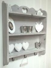 Shabby Chic Wall Unit Shelf Storage Cupboard Cabinet Hooks French Vintage Style