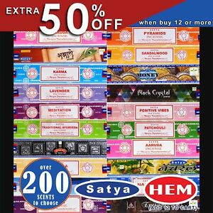 Incense Sticks HEM Hexagon / SATYA Nag Champa Scents Meditation Aroma Fragrance