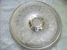 "Wm Rogers Round Serving Tray 12 1/2"" Silver plate #4266 Mint Condition"