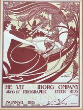 WILLIAM H. BRADLEY The Ault & Wiborg Co. Advertisement 1902 Letterpress Print