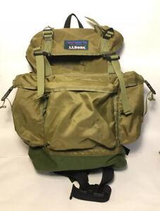 Vintage LL Bean J252 Continental Rucksack Hiking Backpack Green Nylon FREE SHIP