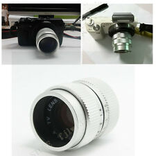 Fujian 35mm f1.7 C Mount CCTV Len for GH1 GF1 NEX 3 5 E mount silver metal