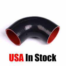"76mm 3"" 3.0"" INCH 90 DEGREE ELBOW SILICONE HOSE TURBO INTAKE PIPE BLACK"