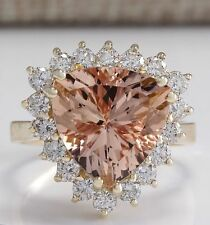 Fashion Jewelry 18K Yellow Gold Filled Morganite Bridal Ring Jewelry Accessories