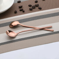 Stainless Steel Coffee Round Spoon Stirring Colorful Long Handle Kitchen Tools