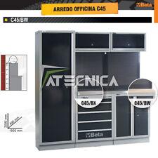Arredo officina Beta C45/BW piano in legno L2000 armadio cassettiera pensili