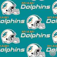 Miami Dolphins NFL Cotton Fabric 6459 D