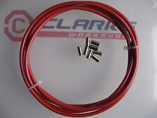 CLARKS - RED BRAKE OUTER CABLE - 4 METRES  plus 8 end ferrules