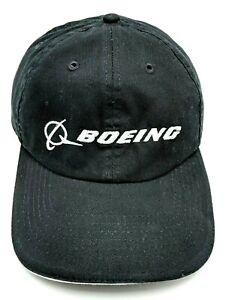 BOEING hat black adjustable cap - 100% cotton