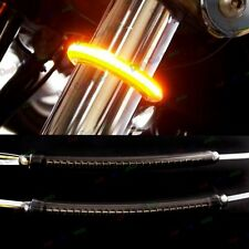 1Pair LED 39mm-41mm Fork Turn Signal Kit&Smoked Lens For Harley Motorcycle