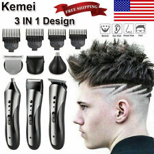 2020 Men Pro Hair Clippers Beard Trimmer Electric Cordless Shaver Razor Haircut