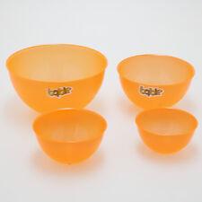 KIMPRO Bable Schalen Set 4 transparent Orange Schüssel Obstschale Kunststoff