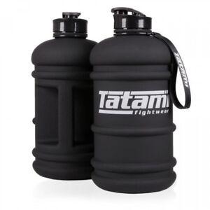 Tatami Water Bottle 2.2L Jug BJJ Training Flask MMA Half Gallon Black Gym Bottle
