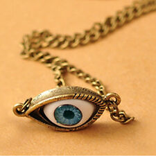 US Angel Evil Eye Pendant Necklace Choker Chain Coppery Vintage Jewelry Gift