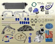 AC Power Steering T3/T4 Hybrid Bolt-On Turbo Kit for Civic CRX EF D15 D16 Sohc