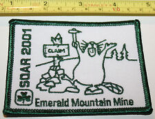 Girl Guides Canada SOAR 2001 Emerald Mountain Mine Patch Badge