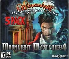 MOONLIGHT MYSTERIES 4 Amazing Hidden Object Games 5 PACK PC Game NEW