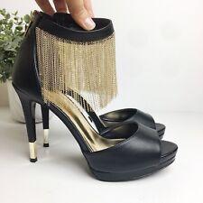 Thalia Sodi Womens Lichi Open Toe Ankle Strap Classic Pumps Black Size 9M