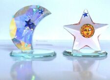 New Listing2 Austrian Crystal Collectible Figurines : Moon + Star