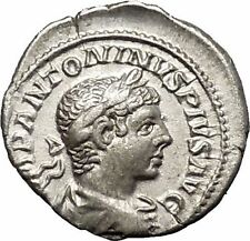 ELAGABALUS Bisexual  Emperor Silver Roman Coin Sol Sun God Cult Whip  i51043