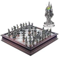 Rare 1997 Danbury Mint Pewter Fantasy Of The Crystal Myth Chess Piece Figures
