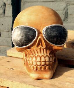 Totenkopf mit Sonnenbrille Kopfhörerständer Skull Totenschädel