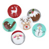Christmas Novelty 2 hole Polyester Buttons - 23mm - 6 designs - Free Postage