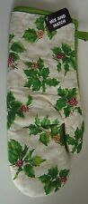 New listing Christmas Holiday Kitchen Cotton Oven Mitt Green Holly