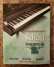 2004 Schaff Piano Supply Company Product Catalog Music Organ - Complete