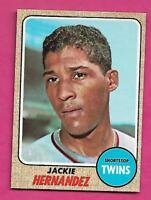 1968 TOPPS # 352 TWINS JACKIE HERNANDEZ ROOKIE NRMT-MT  CARD (INV# A9344)