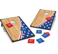 Cornhole Bean Bag Toss Game Set Outdoor Americana Tailgate Patio Backyard Games