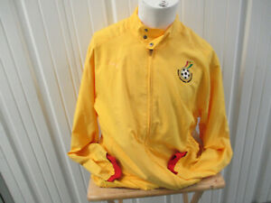 VINTAGE PUMA GHANA NATIONAL TEAM SEWN XL ZIP-UP YELLOW  JACKET PREOWNED AFRICA