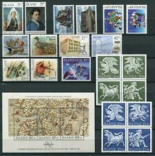 Iceland Year Set 1990 MNH Complete Including Guardian Spirits Birds & Sports