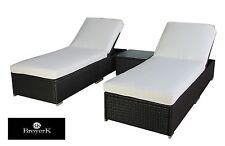 Outdoor Rattan Lounge Set 3 Pcs Sofa Wicker Sectional Garden Patio Furniture New