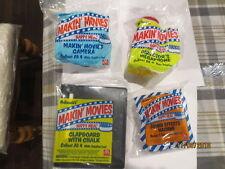 1994 MAKIN' MOVIES MCDONALDS HAPPY MEALS TOY LOT SET OF 4 NIP c