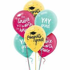 Graduation Yay Grad! Latex Balloons (12) ~ Graduation Party Supplies Helium